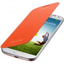 Husa Samsung Flip Cover EF-FI950BOEGWW pentru Galaxy S4, Portocaliu